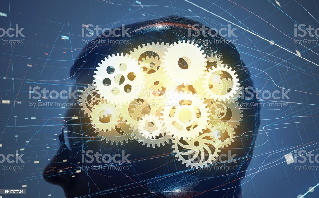 AI (Artificial Intelligence) concept. - foto stock