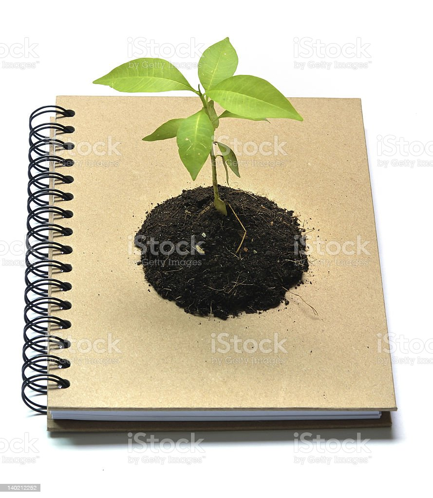 Concept picture of recycle notebook royalty-free stock photo