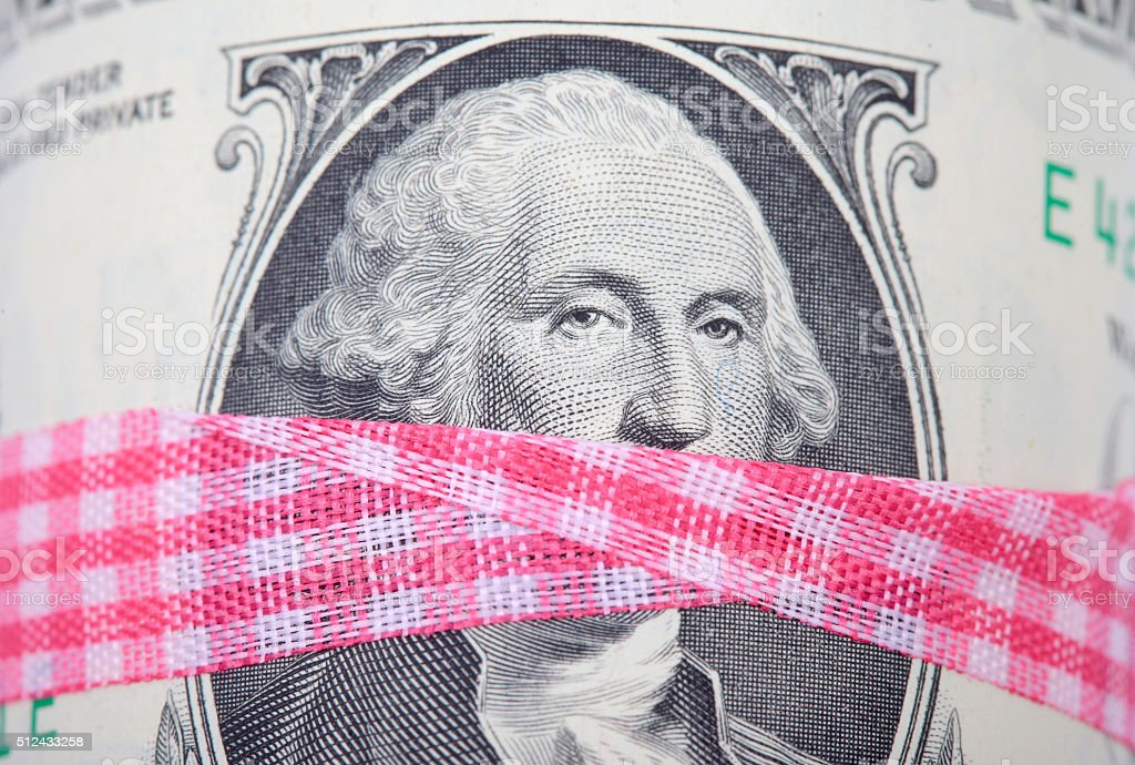 concept portrait of the president on dollar bill stock photo