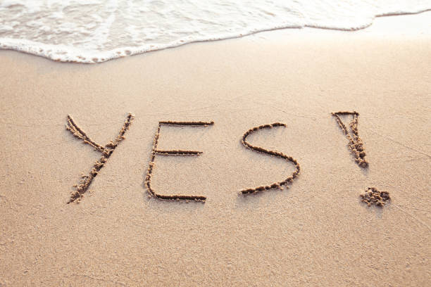 YES concept, positive changes in the life stock photo