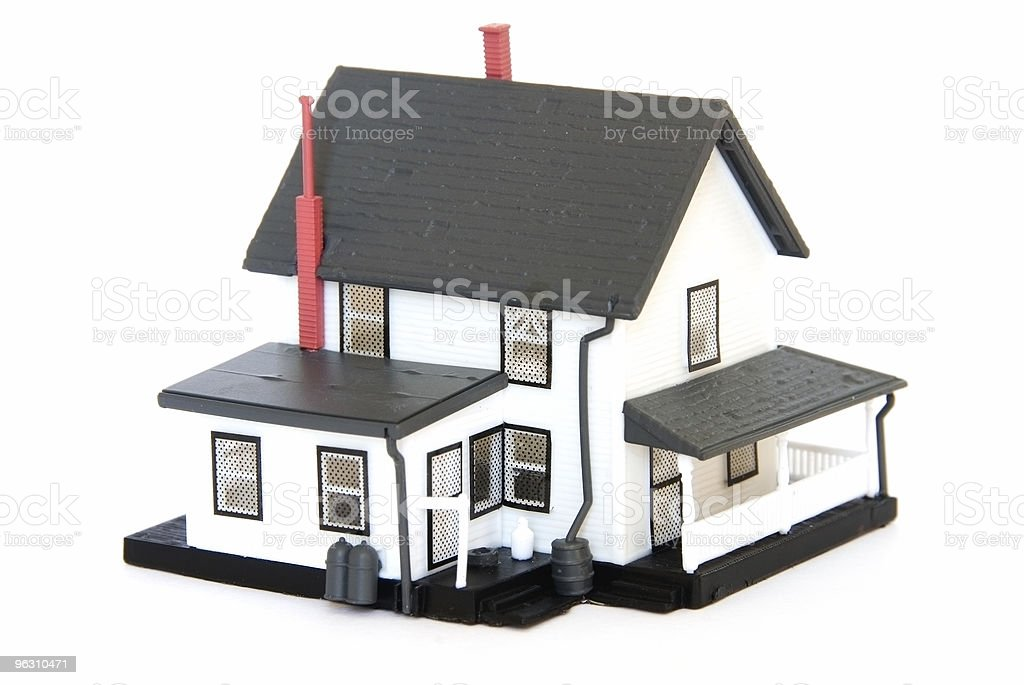 Concept - Real Estate: Model house on white royalty-free stock photo