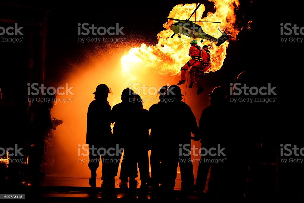 Concept Rescue : Emergency fire rescue stock photo