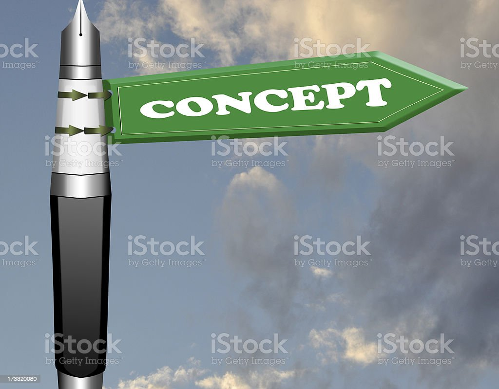 Concept road sign royalty-free stock photo
