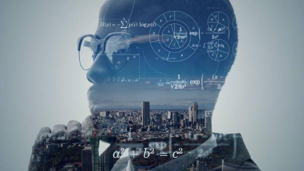 ki-konzept (artificial intelligence). wissenschaftstechnologie. - digital composite stock-fotos und bilder