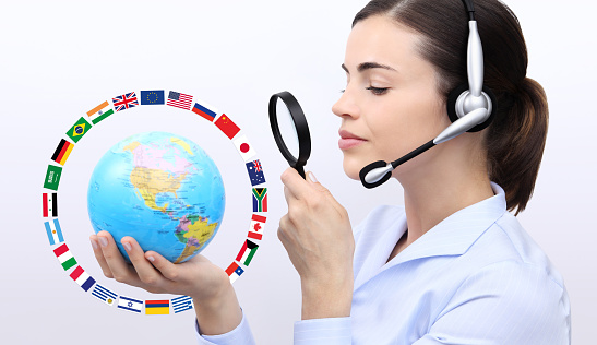 921148564 istock photo concept search, customer service operator woman with headset 530415842