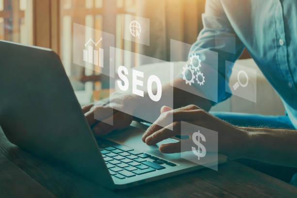 SEO concept, Search Engine Optimization stock photo
