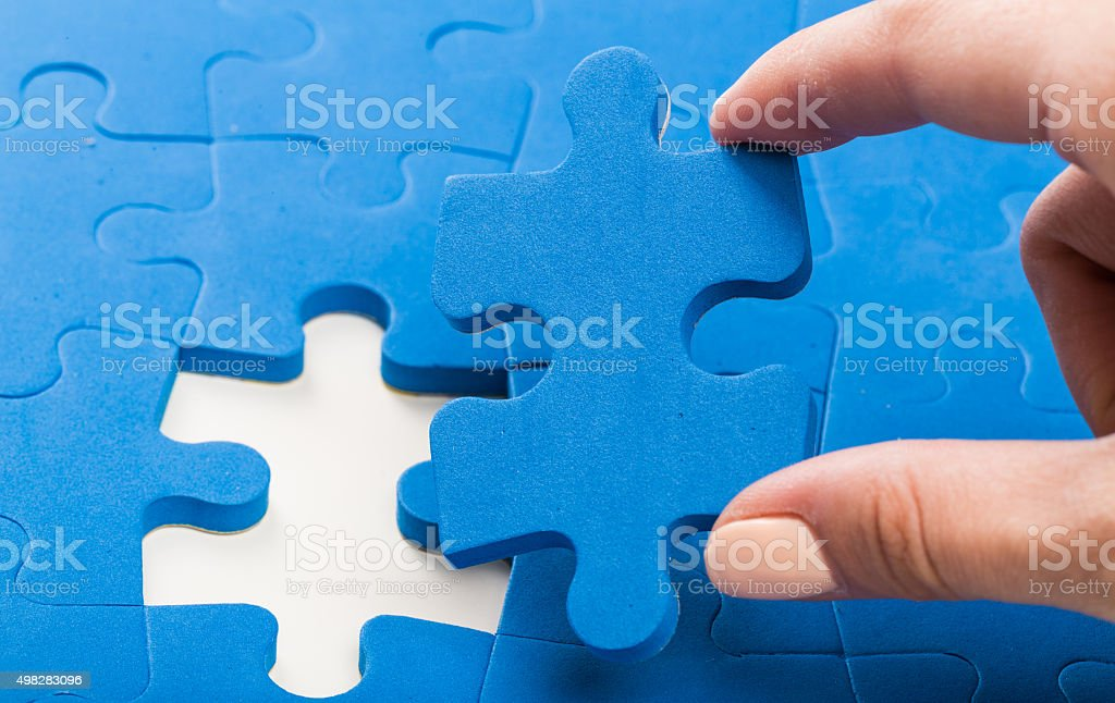 Concept searching a solution for a problem stock photo