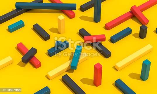 1197513976istockphoto Concept Shapes on a Yellow Background 1210867958