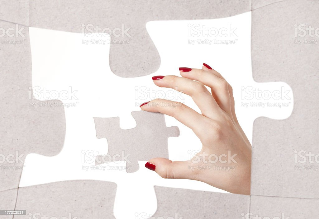 Concept solving problems royalty-free stock photo