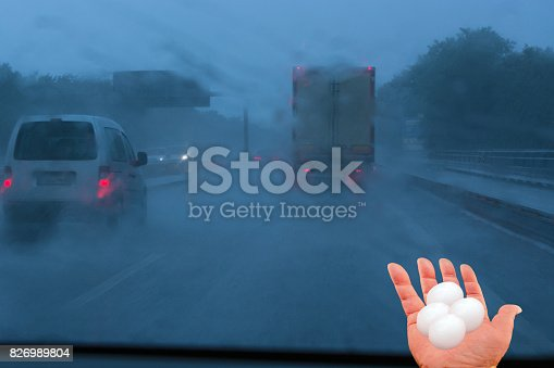 istock Concept storm poor driving conditions. 826989804