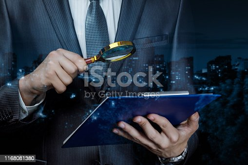 istock Concept study and analysis of a legal document. 1168081380