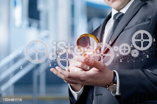 1197953545istockphoto Concept study of the mechanism of business management. 1204461114