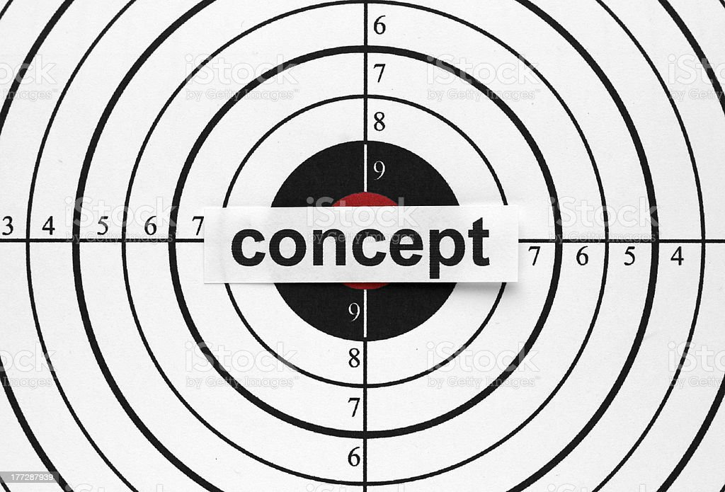 Concept target stock photo