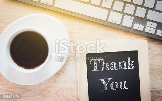 1094837778 istock photo Concept Thank You message on wood boards. 593321124