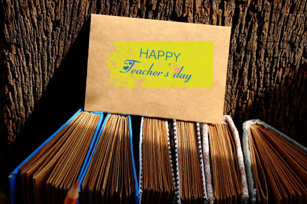 Concept to celebration special day on Nov 20, happy teacher day stock photo