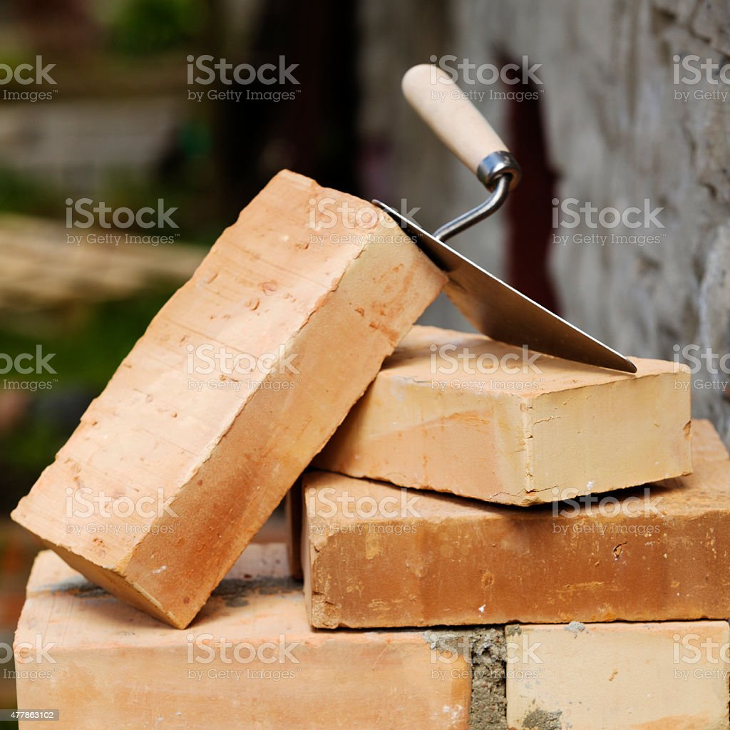 Concept - tools masonry stock photo