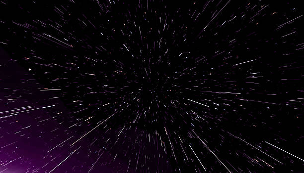 concept traveling in space, warp stars abstract background, galaxy. 3d - distorted image stock pictures, royalty-free photos & images