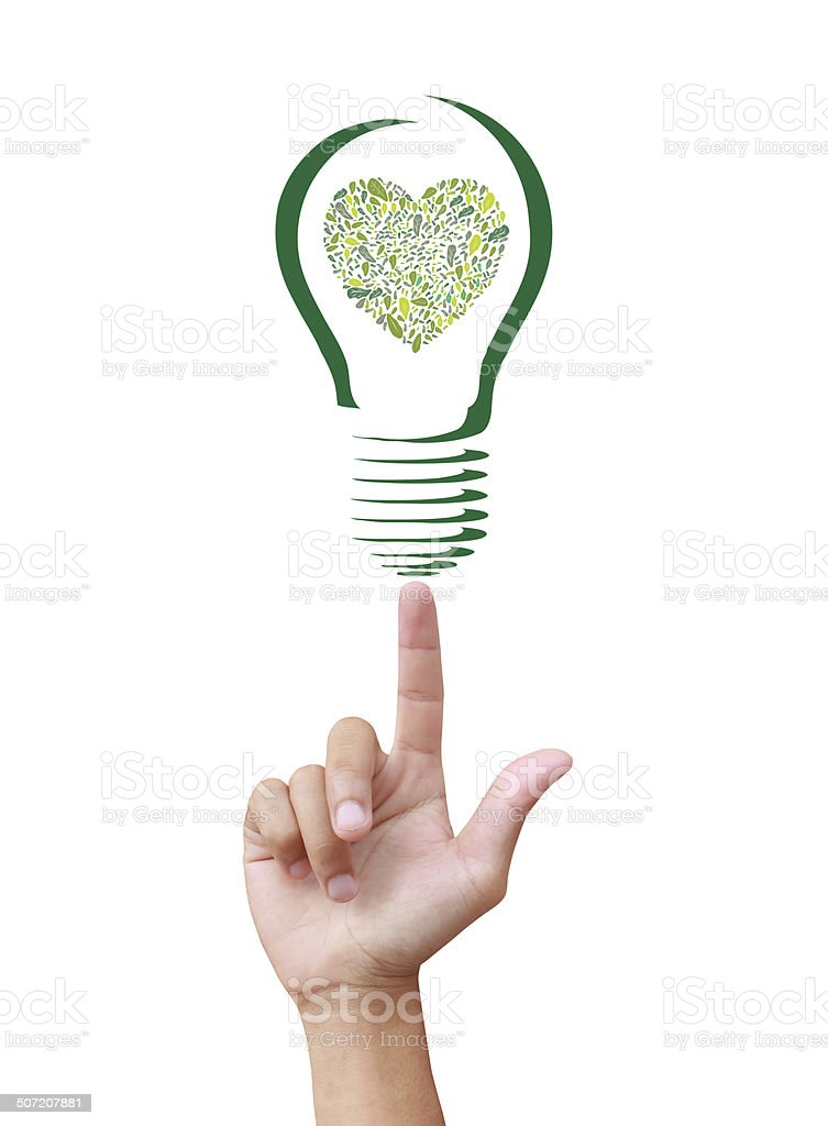 Concept  tree in light bulb royalty-free stock photo