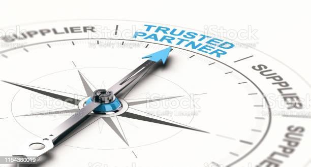 B2b Concept Trusted Business Partnership Stockfoto en meer beelden van Advertentie