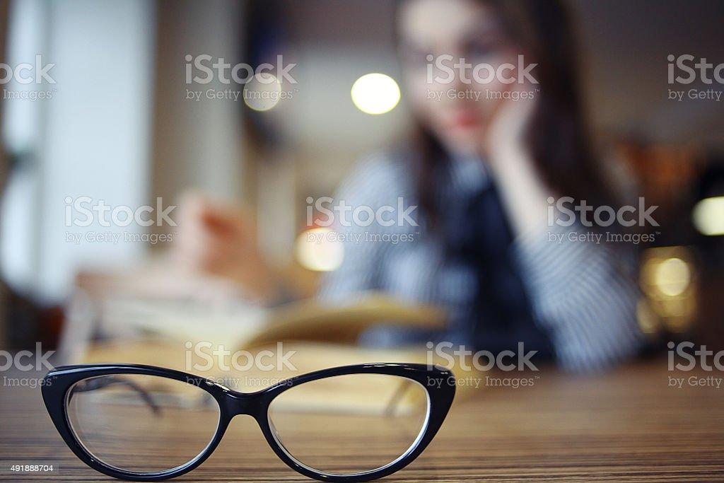 concept vision glasses stock photo