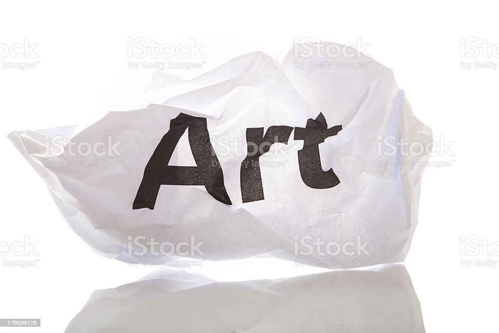 Concept with crammed paper and words royalty-free stock photo