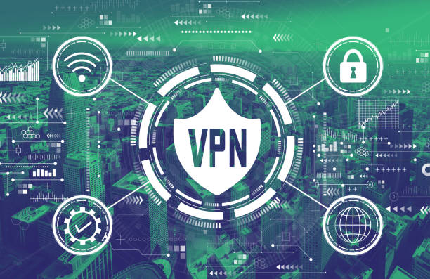 VPN concept with downtown San Francisco VPN concept with downtown San Francisco skyline buildings vpn stock pictures, royalty-free photos & images