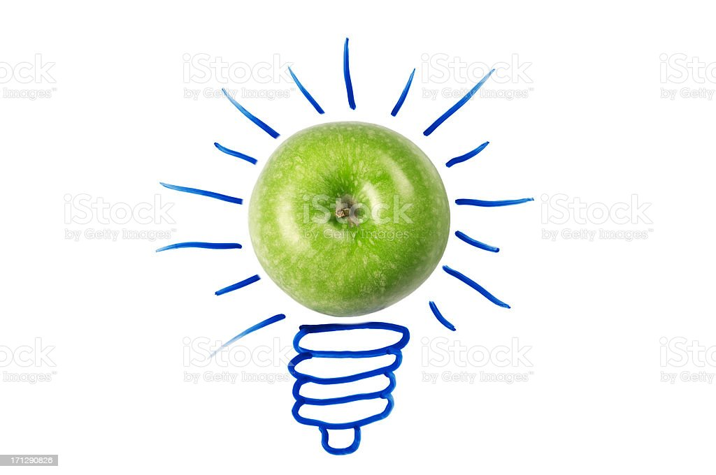 Concept with light bulb stock photo