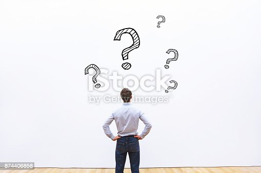 istock concept with many questions, education 874406858