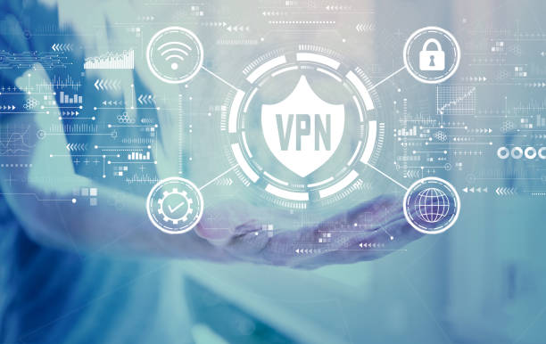 VPN concept with young man VPN concept with young man holding his hand vpn stock pictures, royalty-free photos & images