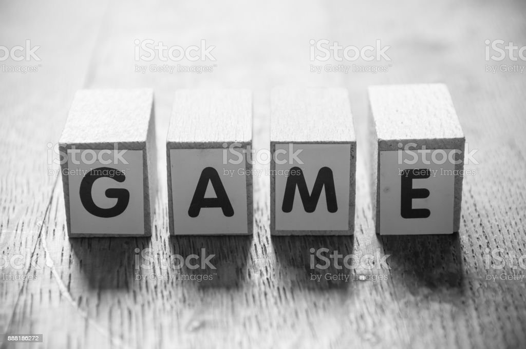 concept word forming with cube - Game stock photo
