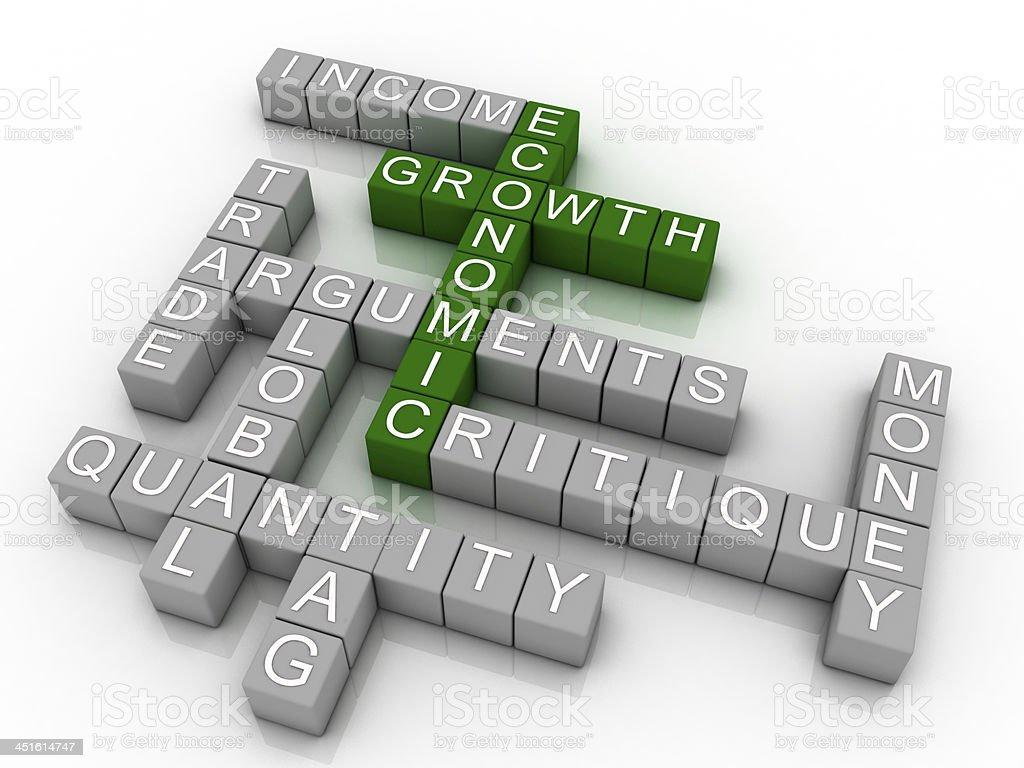 concept wordcloud illustration of economic growth stock photo