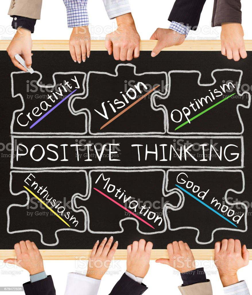 POSITIVE THINKING concept words 免版稅 stock photo