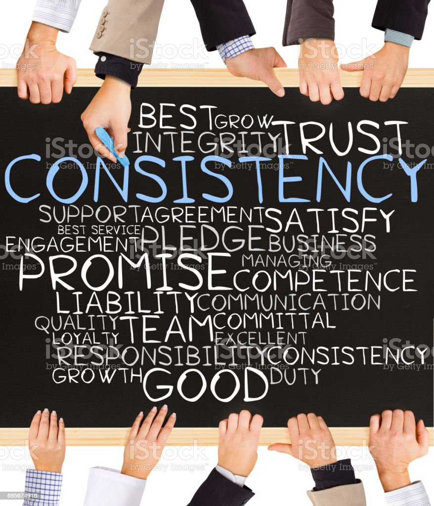 CONSISTENCY concept words royalty-free 스톡 사진