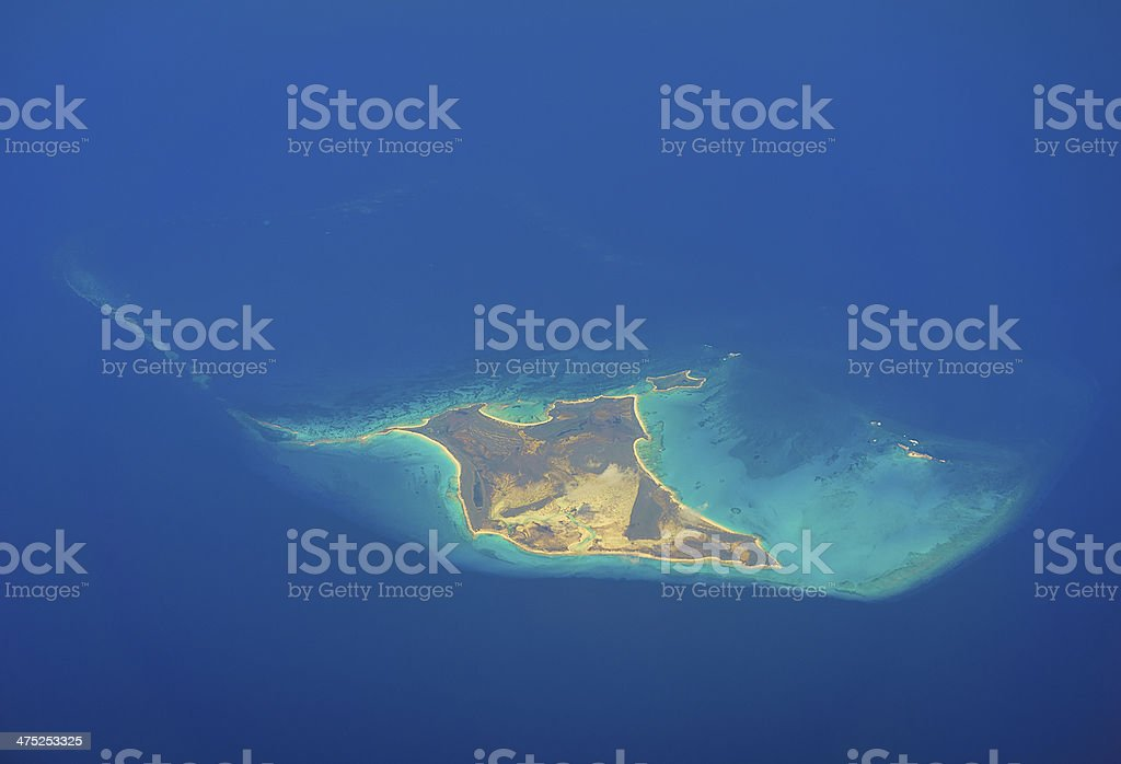 Conception Island in the Caribbean stock photo