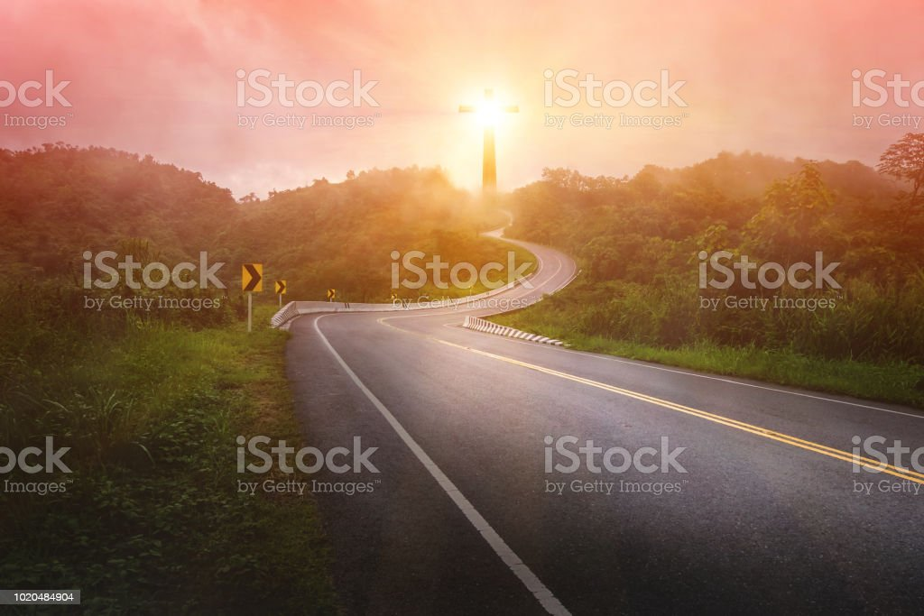 Conception Road to Christ and the Cross stock photo