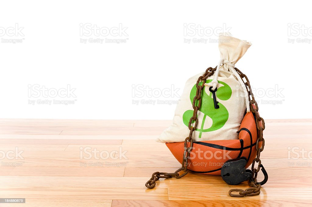 Concept-NBA Lockout royalty-free stock photo