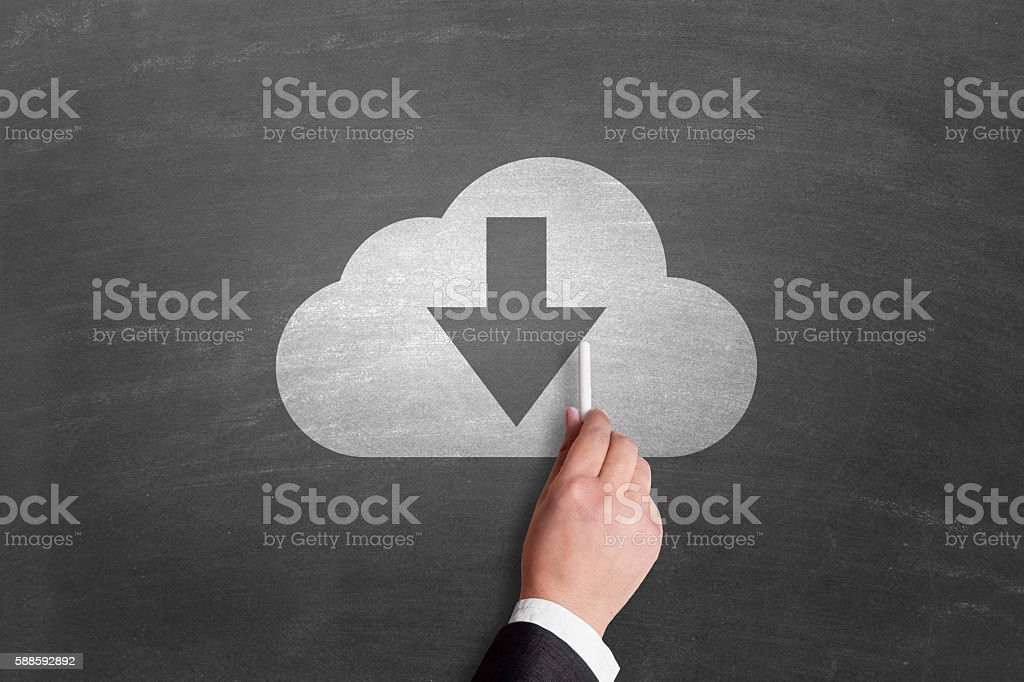 Concepts of cloud computing stock photo