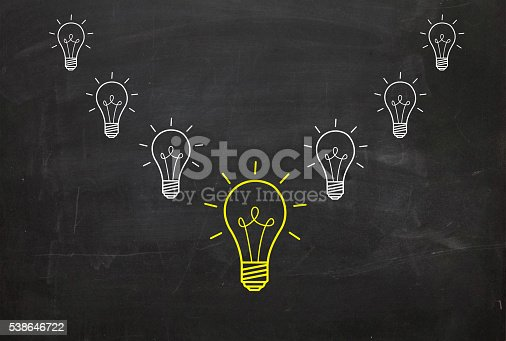 637573406 istock photo Concepts of New Idea and standing out from crowd 538646722