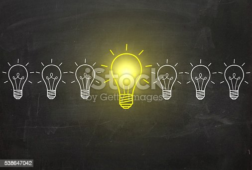 istock Concepts of New Idea and standing out from crowd 538647042