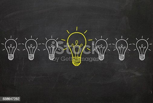 637573406 istock photo Concepts of New Idea and standing out from crowd 538647252