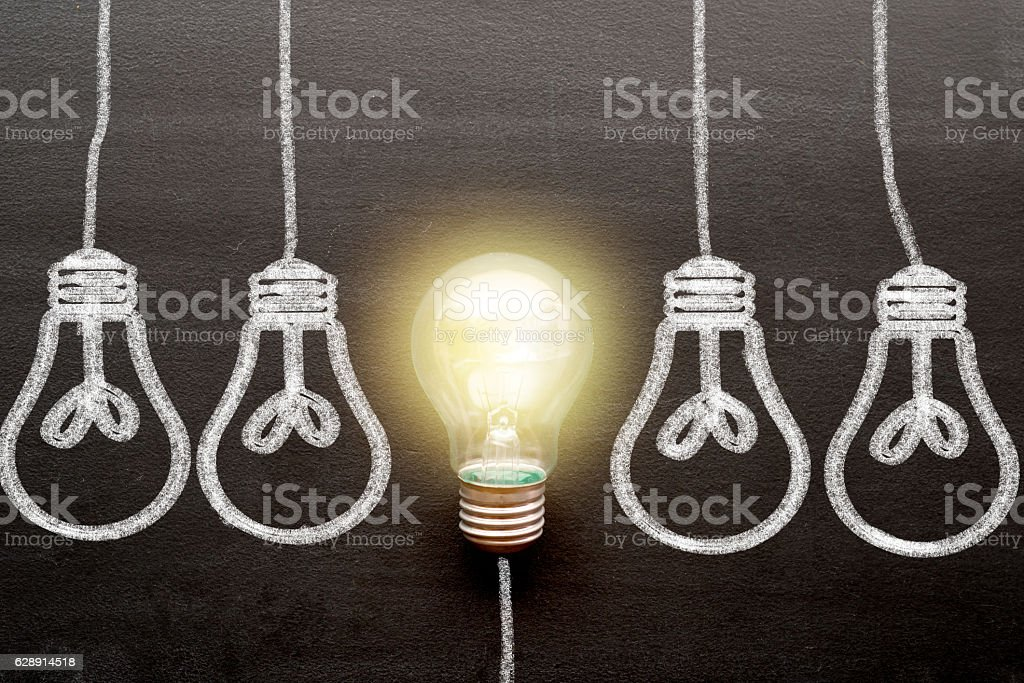 Concepts of New Idea and standing out from crowd stock photo