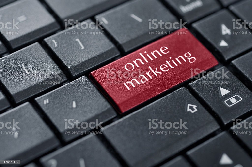 Concepts of online marketing royalty-free stock photo