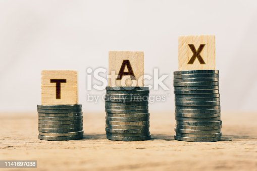 467271788 istock photo Conceptual about tax benefit or mandatory financial charge. 1141697038