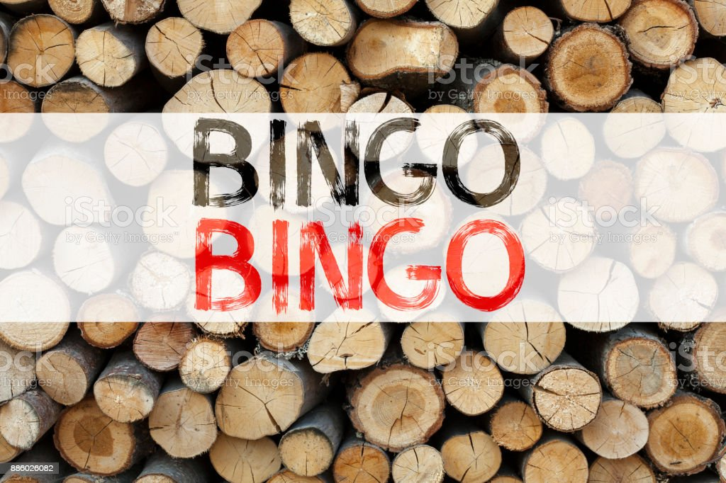 Conceptual announcement text caption inspiration showing Bingo Business concept for Lettering Gambling to Win Price Success written on wooden background with copy space stock photo