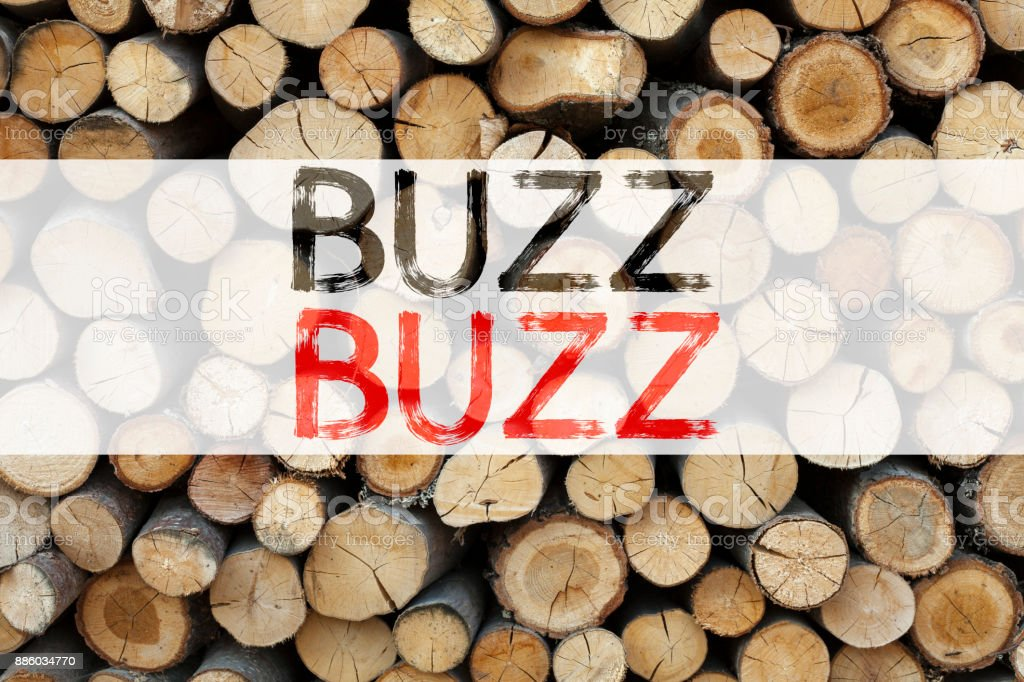 Conceptual announcement text caption inspiration showing Buzz Business concept for Buzz Word llustration written on wooden background with copy space stock photo