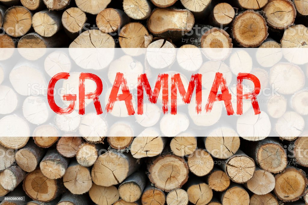 Conceptual announcement text caption inspiration showing Grammar Business concept for  The Basic Rules of Syntax Grammatical Language written on wooden background with copy space stock photo