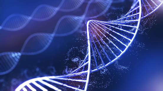 Conceptual background illustration of DNA structure,Genetic editing technology for life,3d rendering