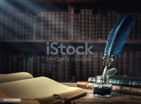 istock Conceptual background on history, education, literature topics. 1022236966