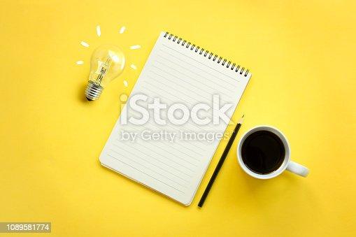istock Conceptual brainstorming still life. 1089581774