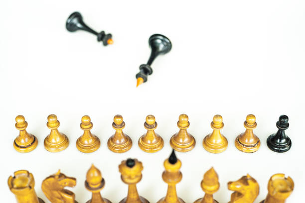 conceptual chess conceptual chess pieces; the double agent apostate stock pictures, royalty-free photos & images